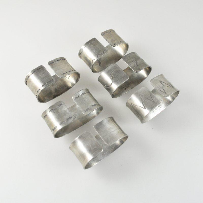 Serviettenringe im Satz 12 Edelstahl rostfrei Servietten R2A3 ring-Napkin R0U2